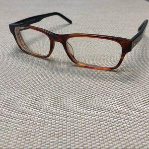 Lacoste Eyeglass Frames Brown Rectangle Tortoise